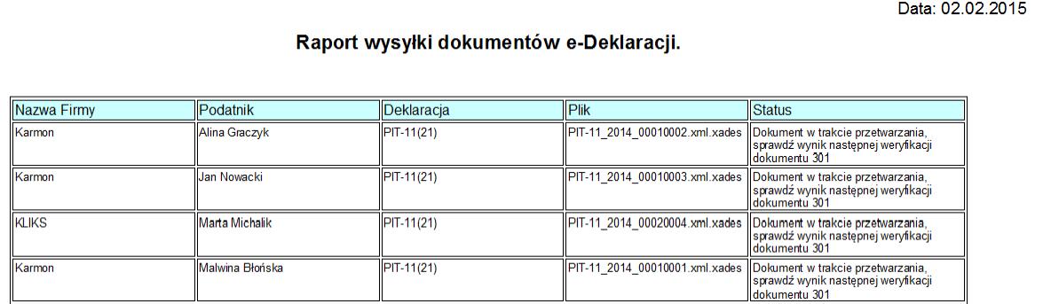 Masowa wysyłka e-Deklaracji PIT-11